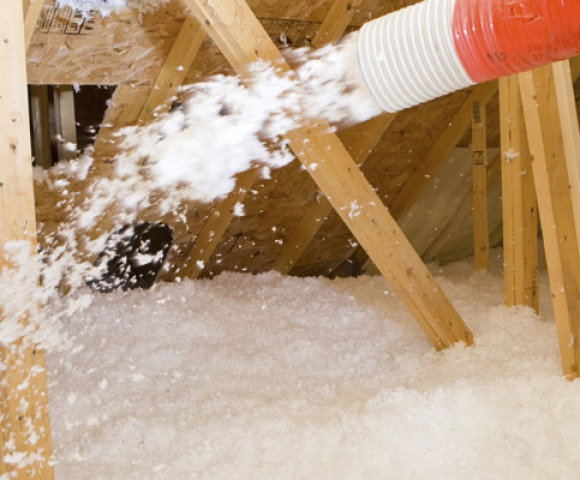Loose fill : This loose, blown-in fiberglass or cellulose is typically used in attic space.
