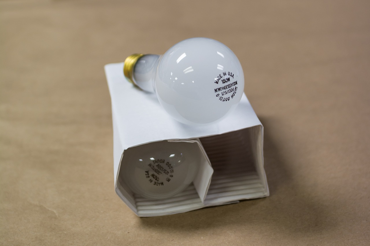 An incandescent bulb contains a wire filament heated to a high temperature by passing electricity through it, until it glows with light. These once popular light bulbs will soon be a reminder of the past as they are currently being phased out of production.