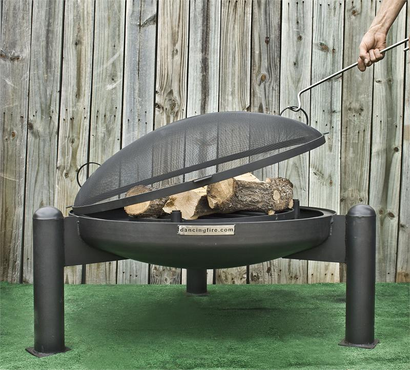 Dancing Fire  Started online selling clay chimineas in 1997 and expanded to design and manufacturing outdoor fire pits and fire features. Based  in Weatherford TX, made in the USA.