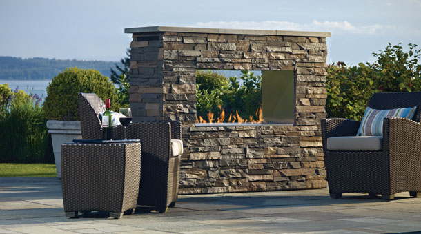 REgency  Whether you are looking for a tranquil retreat or a lively background to entertain, the versatility of a Regency outdoor fireplace, firepit or firetable creates an endless number of possibilities for your outdoor oasis.