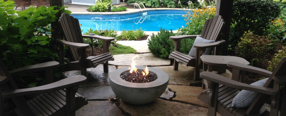 Deck Flame  Can be used year round making them a great investment for years to come!  Hand made in Canada, our firetables and firebowls are lightweight & resistant to all sorts of weather conditions.