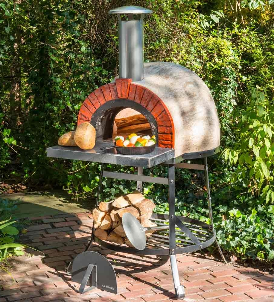 Rustic Wood Fired Ovens  Will reach temperatures up to 1,000 degrees inside and yet remain cool to the touch on the outside, for the ultimate in safety and convenience.  Our ovens also retain their heat for up to 24 hours so you can cook dinner, close it overnight, and still cook breakfast the next morning!