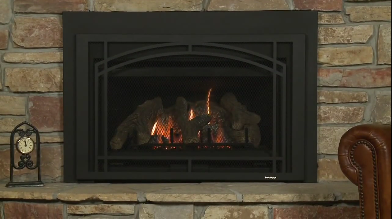 Heatilator  These direct vent and energy-efficient gas inserts offer comfort, convenience and fantastic heating value. Expect big, beautiful flames, full remote control and impressive heat production.