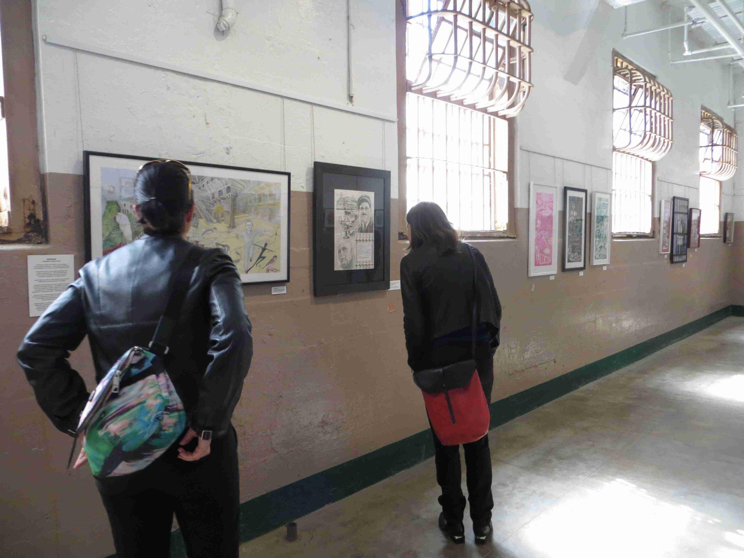 Lollypop Sundat at Alcatraz Band Practice Room-Int'l visitors held captive by art at Alcatraz (2).jpg