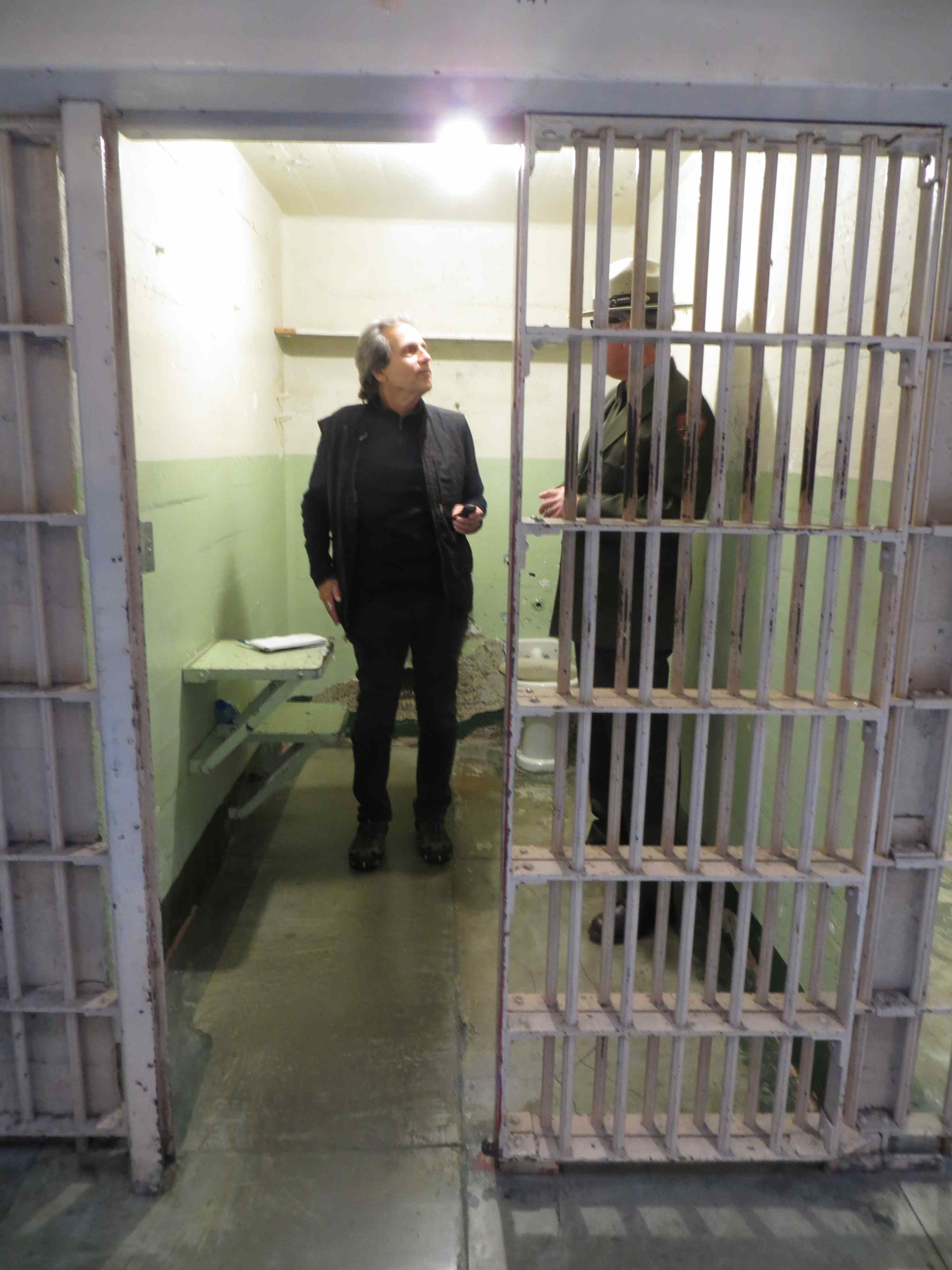 Paul Liberatore and John Cantwell inside Whitey Bulger's old cell