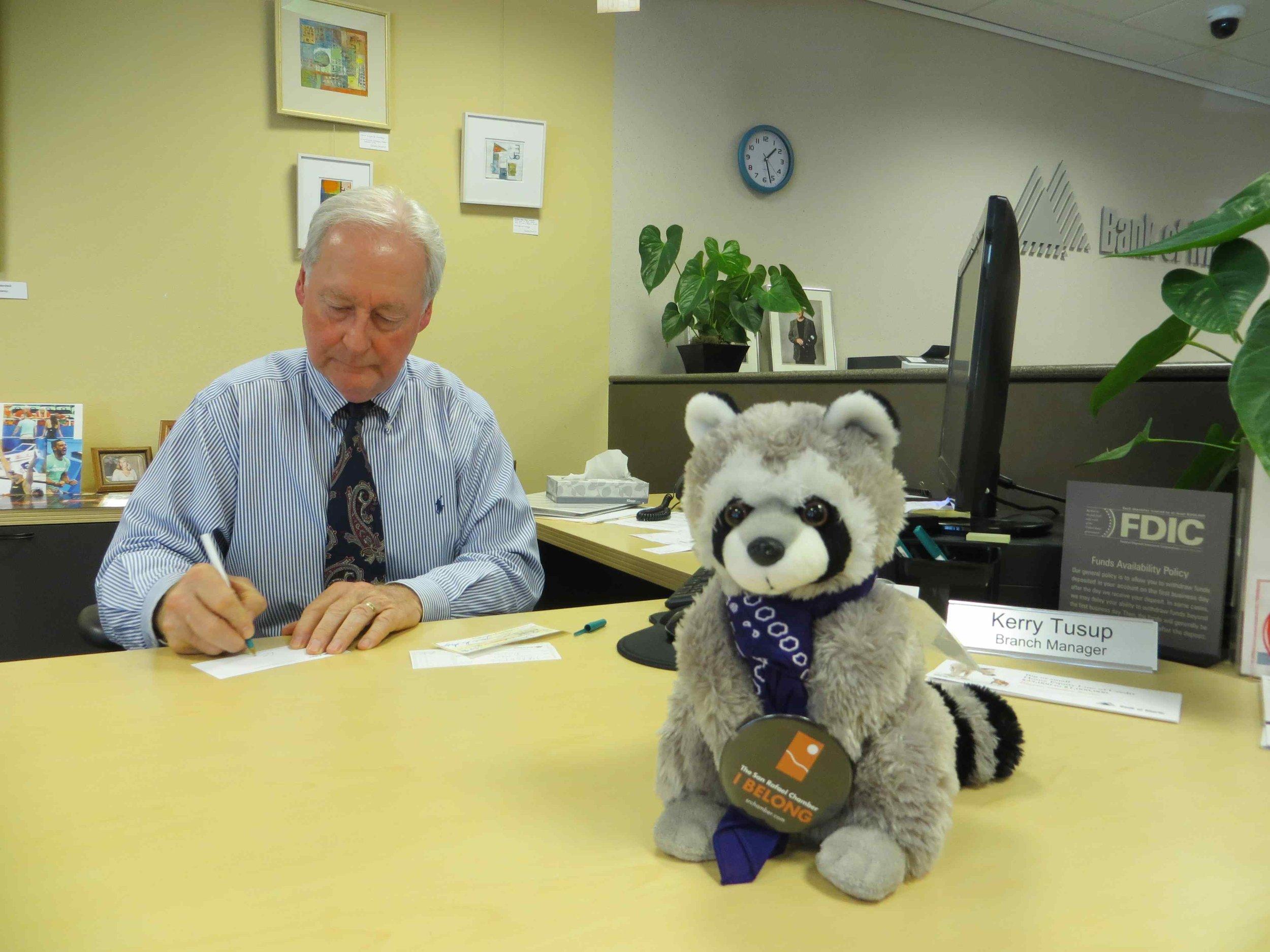 Raphael the Raccoon SRCOC Mascot at Bank of Marin Mill Valley-004.jpg