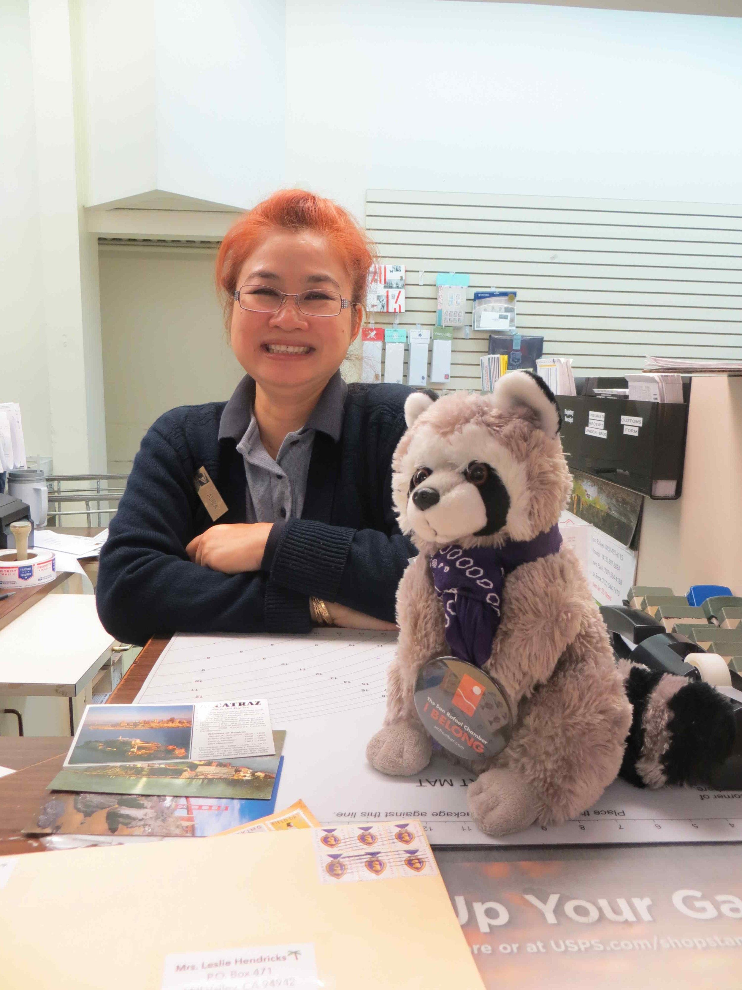 Raphael the Raccoon SRCOC Mascot at Mill Valley Post Office -009 - Copy.jpg