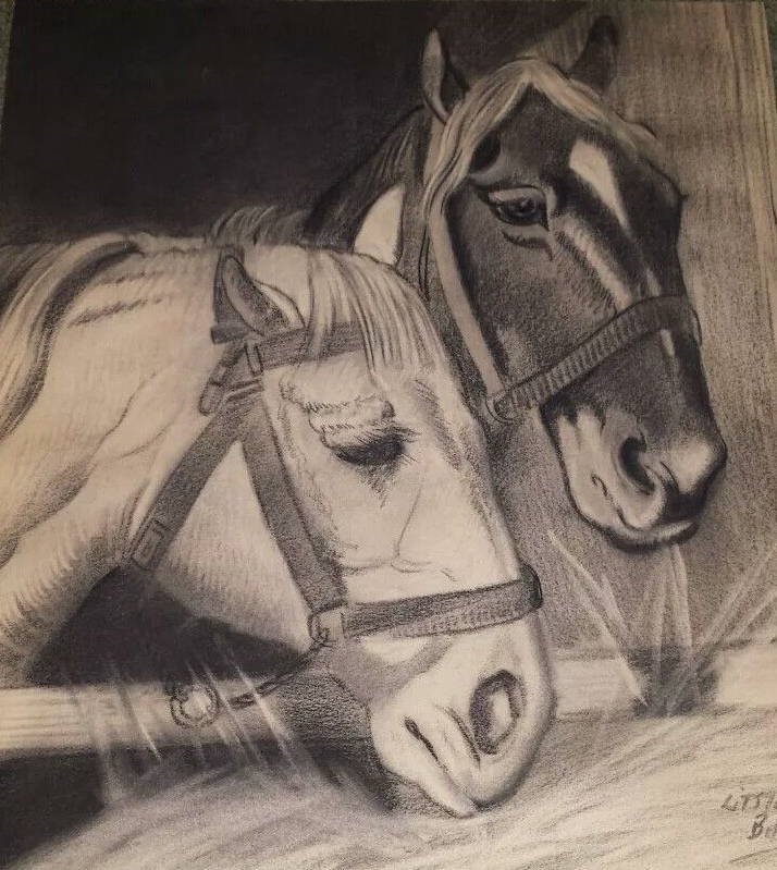 Two Horses by Little Bill Virginia STate Prison - Copy.jpg
