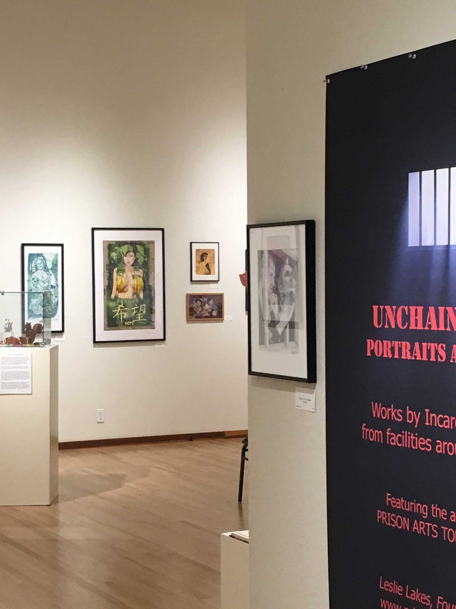 Gualala Art Exhibit Entrance to Burnett Gallery-GUALALA INMATE ARTSHOW IMG_5611 - Copy.jpg