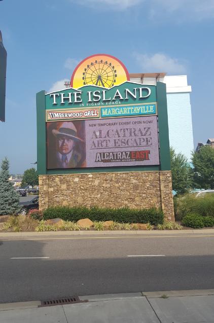 Alcatraz Art Escape billboard sign.png