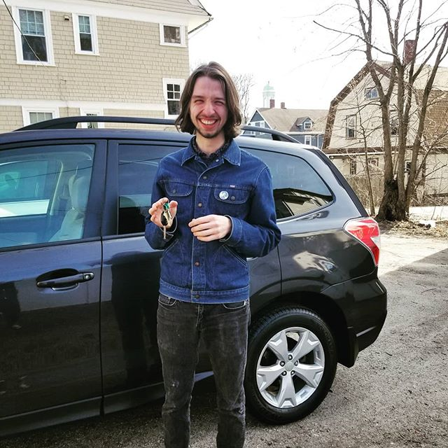 I still have to come up with a name for my new gig-mobile! Driving this Subaru up to Easthampton tonight to play at @luthierscoop tonight at 7!
