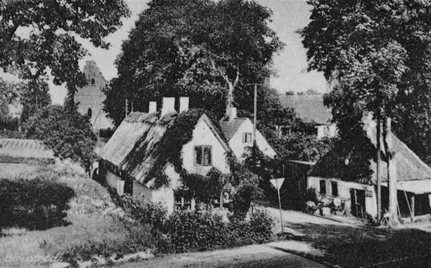 Smedegyden med den gamle smedie - ca. 1940