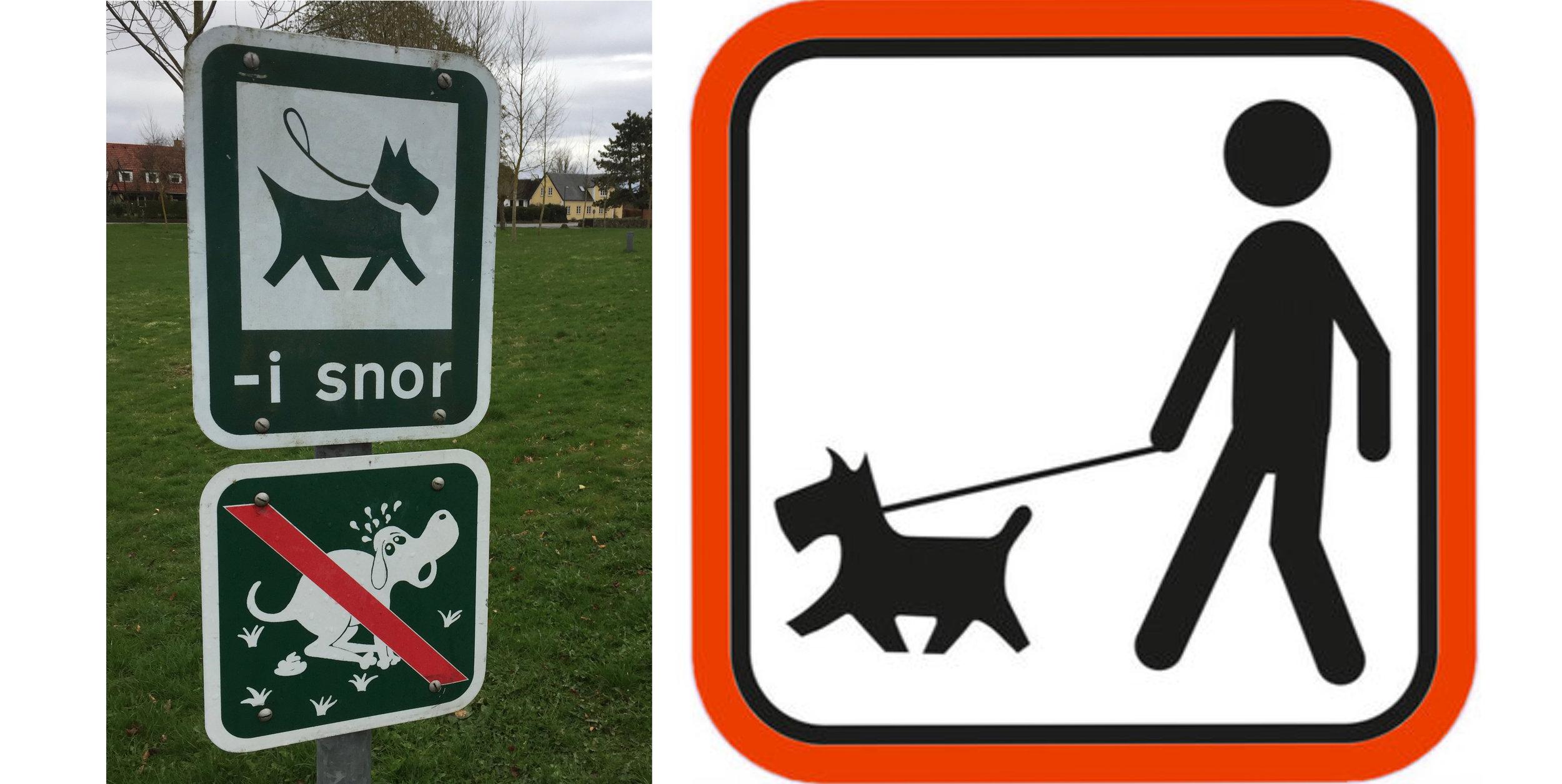 Selv om der ikke er skiltet med 'Hunde i snor', er det forbudt at have løsgående hunde i        skove og udyrkede arealer. Foto: AOB