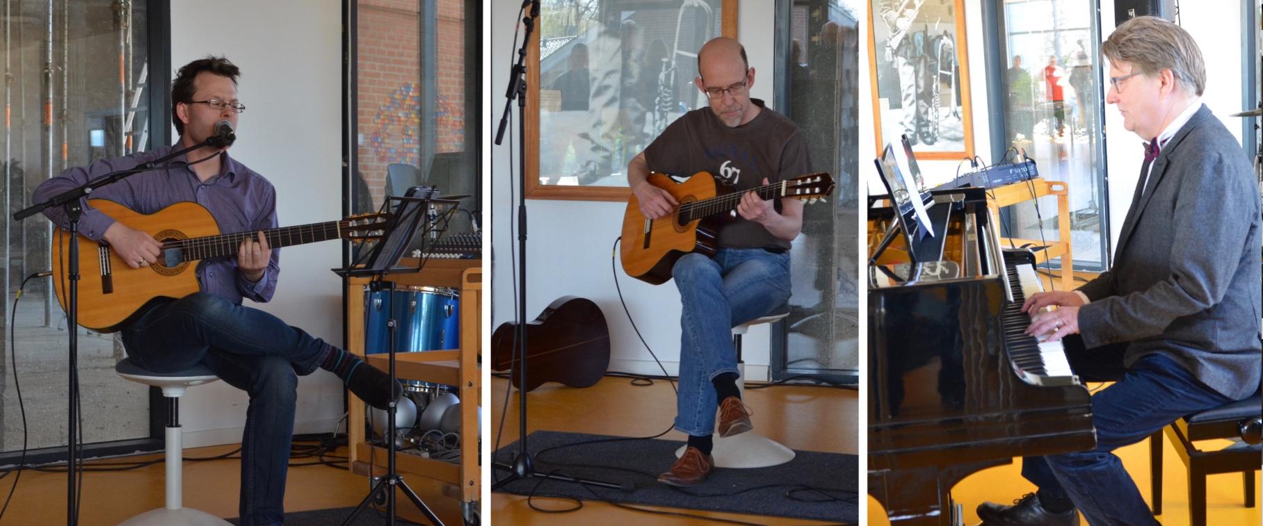 Ved traktementet blev der naturligvis underholdt med musik og fællessang. Fotos:AOB