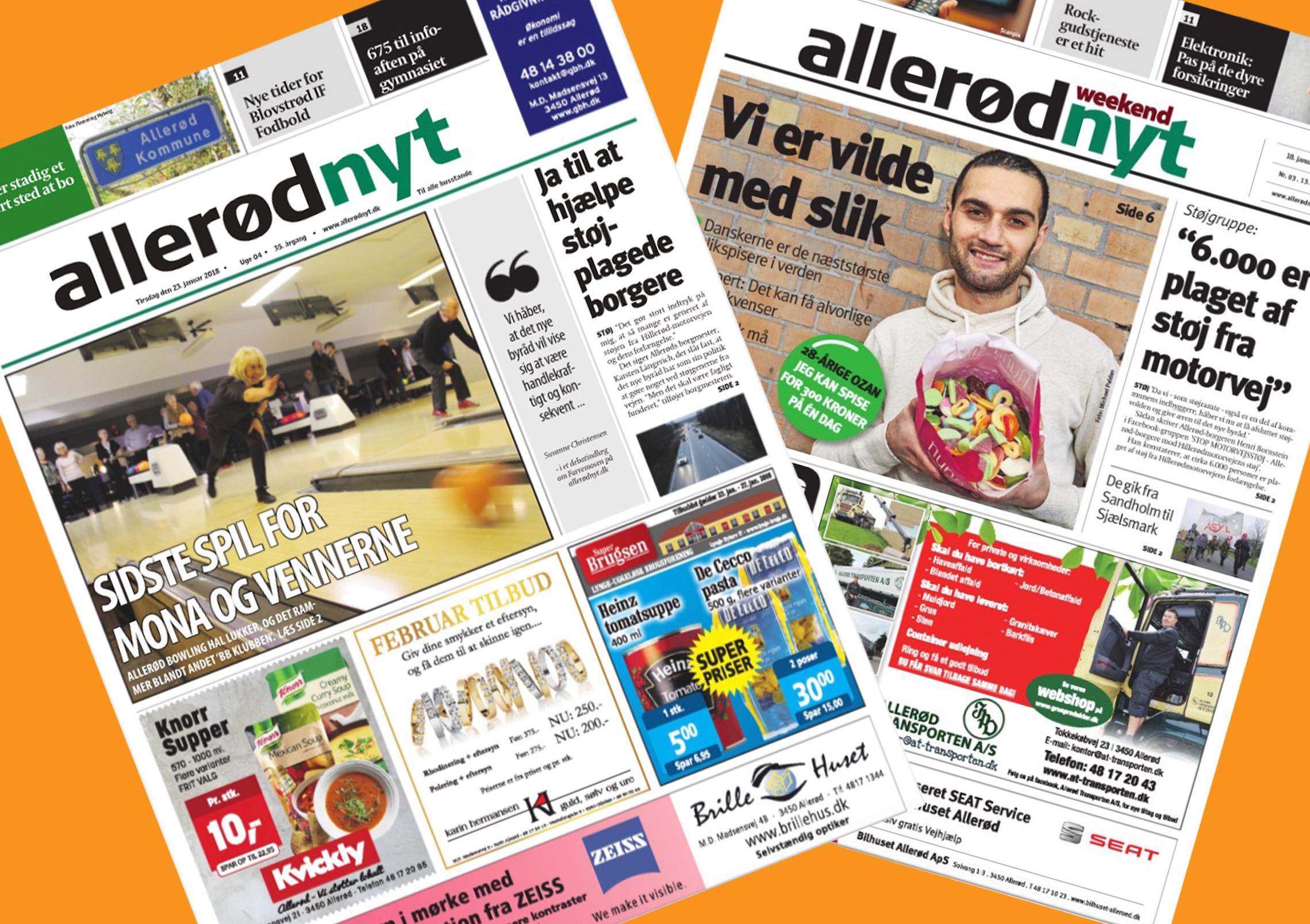 Mange af AOBs læsere har ikke modtaget de sidste udgaver af Allerød Nyt - og flere har slet ikke set avisen i år. Kollage: AOB