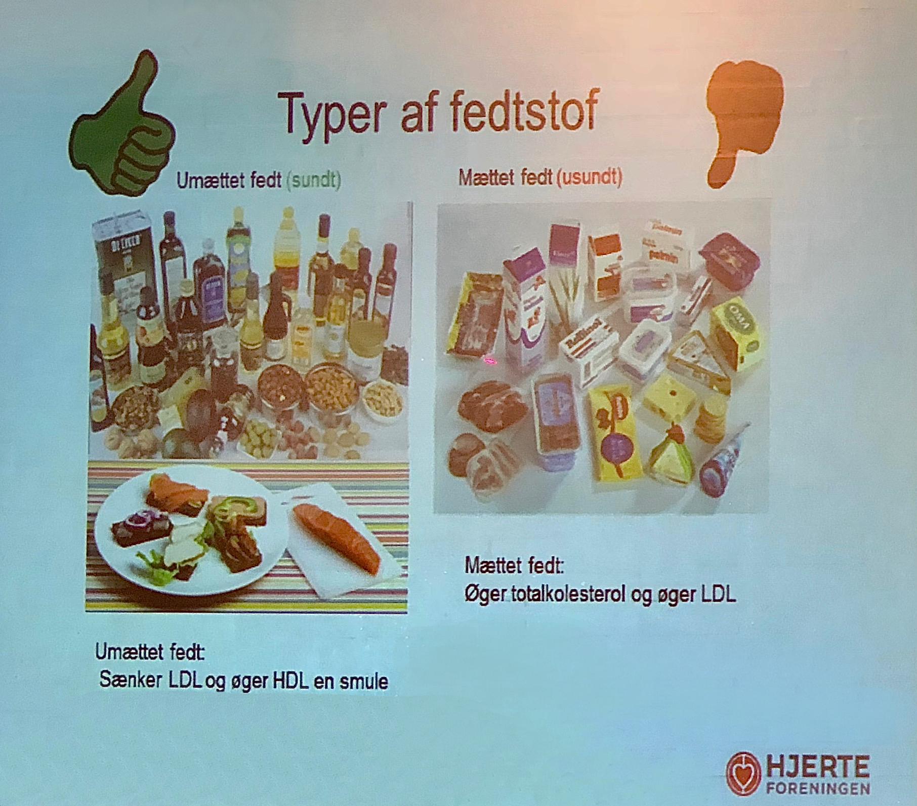 Det kan du selv gøre for at sænke dit kolesteroltal: 1) Vælg umættede fedsoffer, som primært findes i planter og fisk. 2) Vælg raps- og olivenolie. 3) Spis gerne nødder, mandler, advocado og 350 gram fisk om ugen. 4) Spar på det mættede fedt, som primært findes i fødevarer med et højt indhold af animalsk fedt. 5) Spis 600 gram frugt og grønt om dagen - halvt af hver. 6) Vælg fødevarer med Nøglehuldsmærket eller det orange fuldkornsmærke. 7) Dyrk motion. 8) Undlad at ryge. 9) Følg Sundhedsstyrelsens anbefaling om alkoholindtag. Foto: AOB