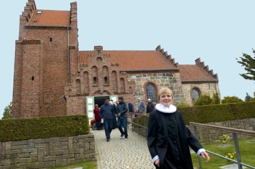 """Sognepræst Kristine K. Ravn:""""Vi regner bestemt ikke med at aflyse kirkelige handlinger – ikke mindst konfirmationerne. Arkivfoto: AOB"""