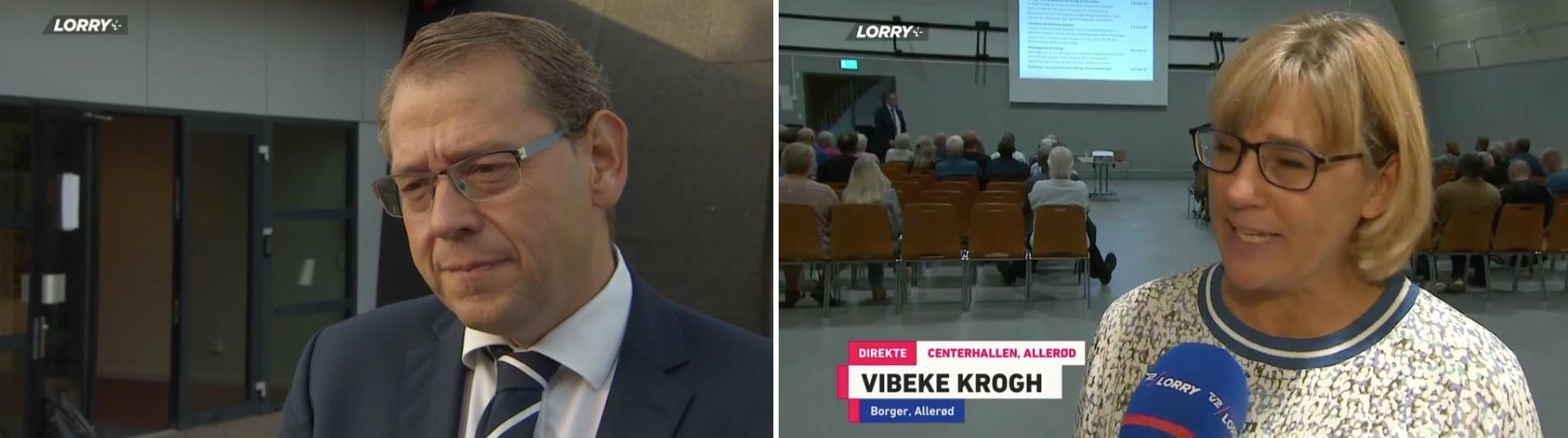 Inden selve mødet blev  Karsten Längerich interviewet og under selve mødet blev det Vibeke Kroghs tur. Klip fra TV-Lorry.