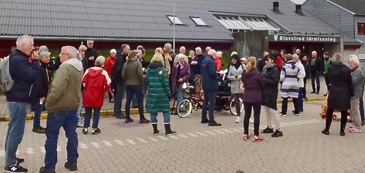 I oktober sidste år havde Venstre arrangeret en byvandring omkring de nye bebyggelser ved bl.a. Drabæk Huse, Frugtlunden og Grønningen - denne gang gælder primært området omkring Blovstrød Børneby. Arkivfoto: AOB