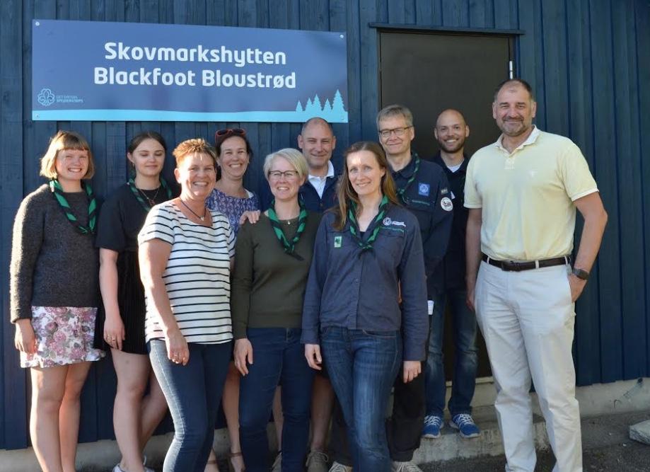 Blackfoot Bloustrøds bestyrelse tager mod SF-prisen på mandag. Foto: AOB