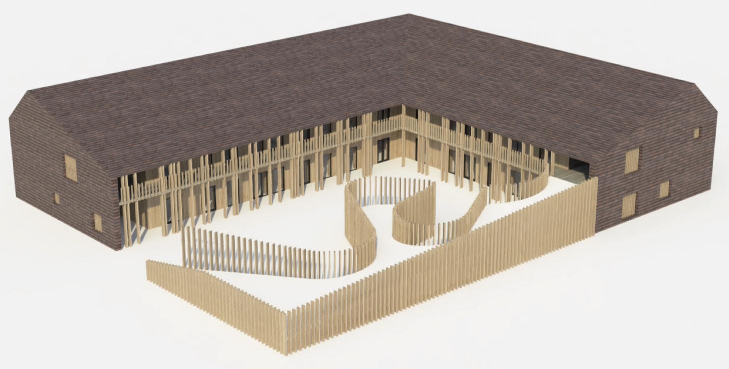 Model: Vilhelm Lauritzen Arkitekter