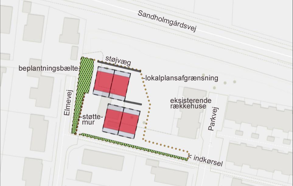 Der foreligger nu den 3. løsning til placeringen af boliger på den tidligere spejdergrund. Situationsplan: Allerød Kommune - Tekster: AOB