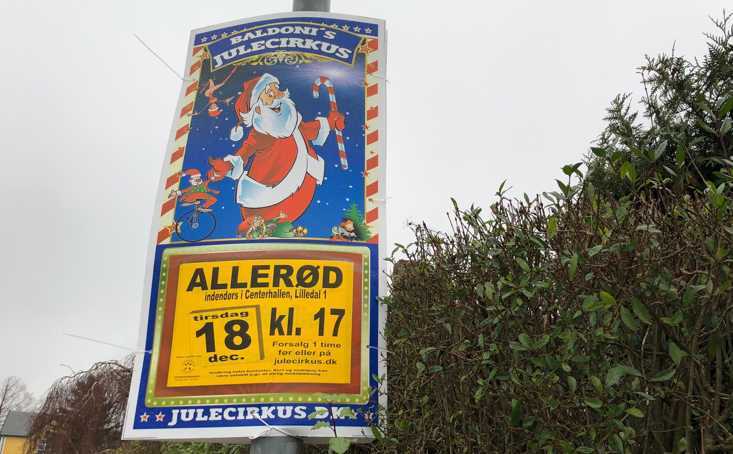 Det er den 18. december, at Baldoni's Julecirkus er i Lillerød. Foto: AOB