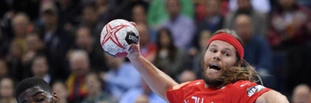'Træf-på-tværs' viser VM-håndboldkampen mellem Danmark og Norge på storskærm.