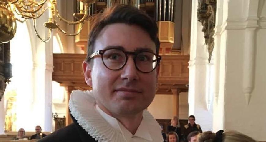Martin Ravn blev indsat den 3. februar som sognepræst ved højmessen i Kokkedal Kirke. Privatfoto