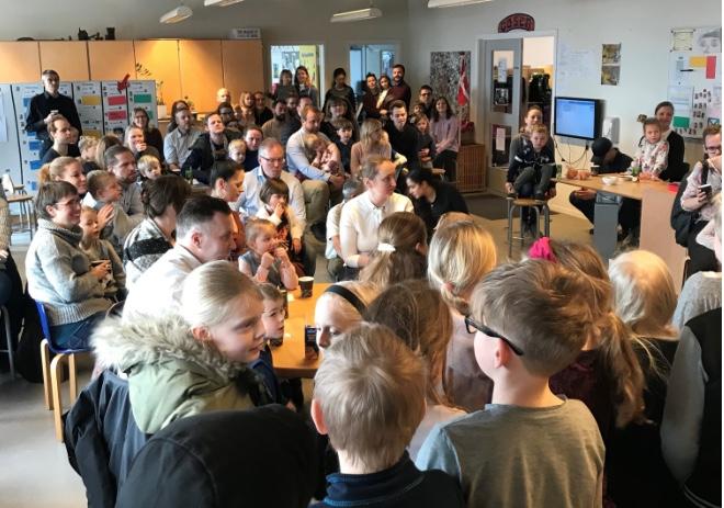 I fredags begyndte 44 børn i Blovstrød Skoles MINI-SFO. Foto: Mette Sand Kristensen