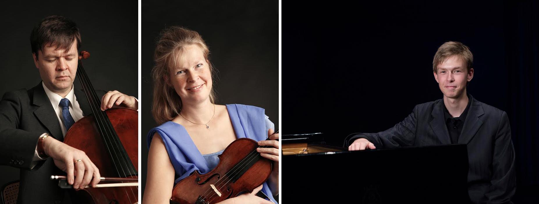 Udøvende vil være Klaus Munk-Nielsen (cello), hans kone Anna Munk-Nielsen (violin) samt deres prisvindende søn, David Munk-Nielsen (klaver). Pressefoto