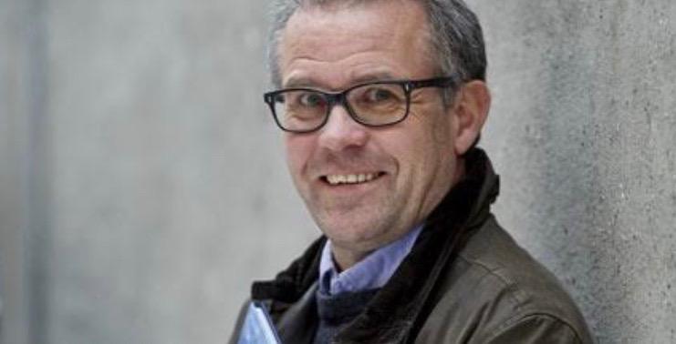 """Peter Madsen: """"Foredraget indeholder bl.a. processen med at 'oversætte' Bibelens tekst til tegneseriens sprog."""" Pressefoto"""