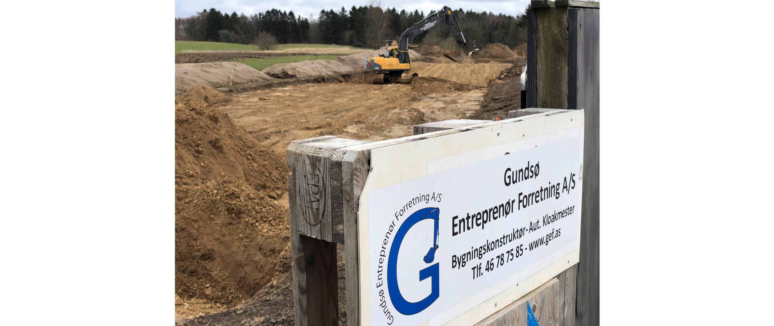 Det er 'Gundsø Entreprenør Forretning A/S', som står for entreprisen. Foto: AOB
