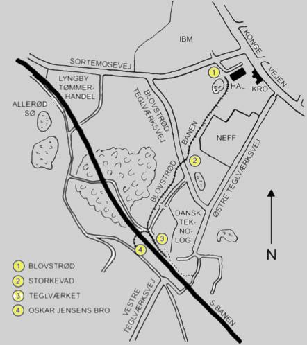 Der er fire stationer på Blovstrødbanen.