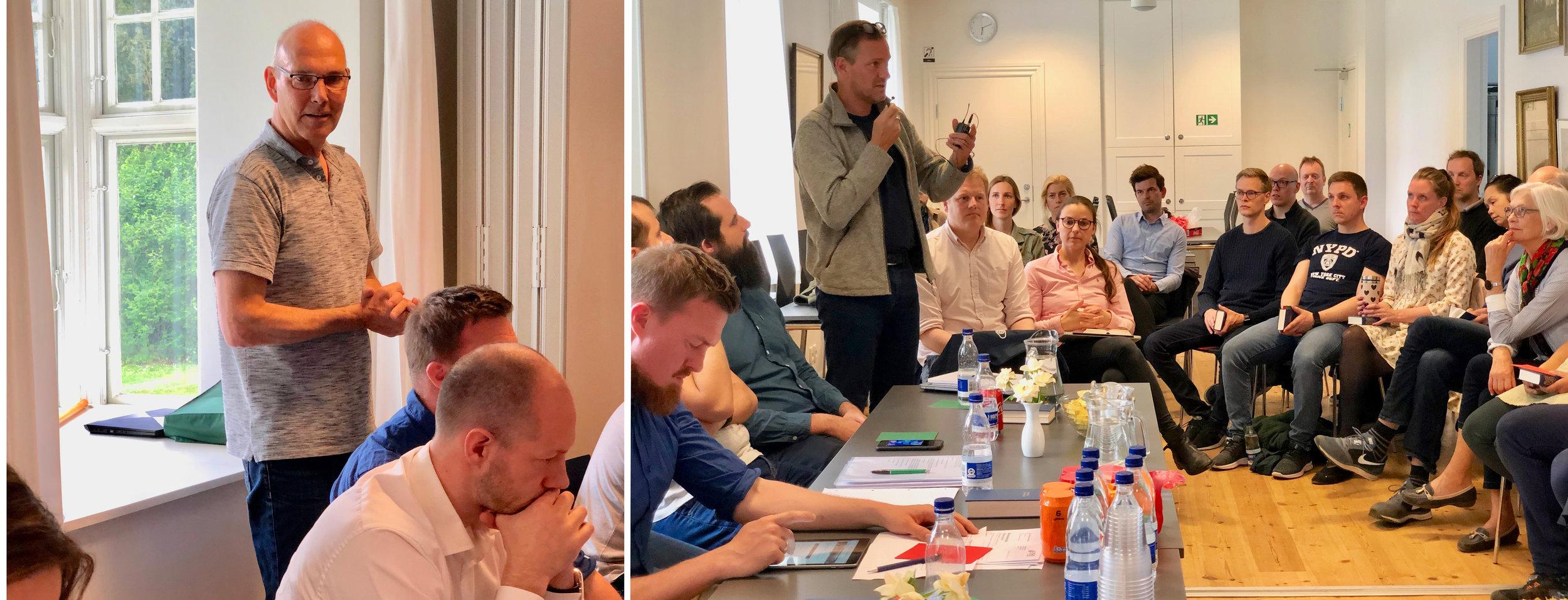 Formanden, Ib Sondrup Andersen, bød velkommen og gav herefter ordet til kommunens planchef, Per Jul. Foto: AOB