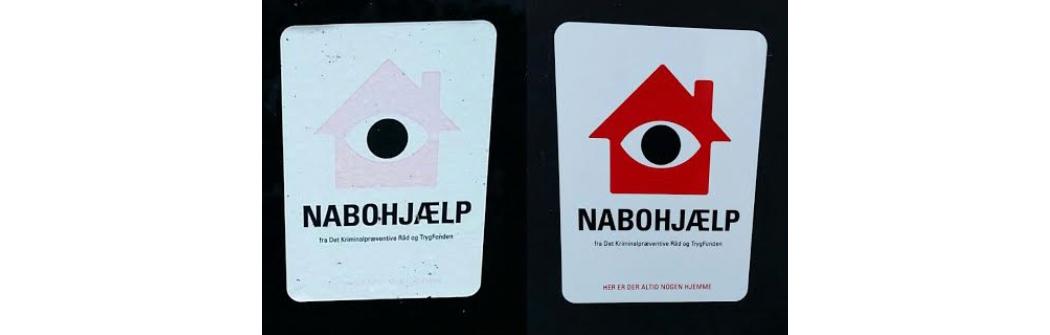 Bestilt nye mærkater hos Nabohjælp inden sommerferien. De nye mærkater er bedre og falmer ikke så let.