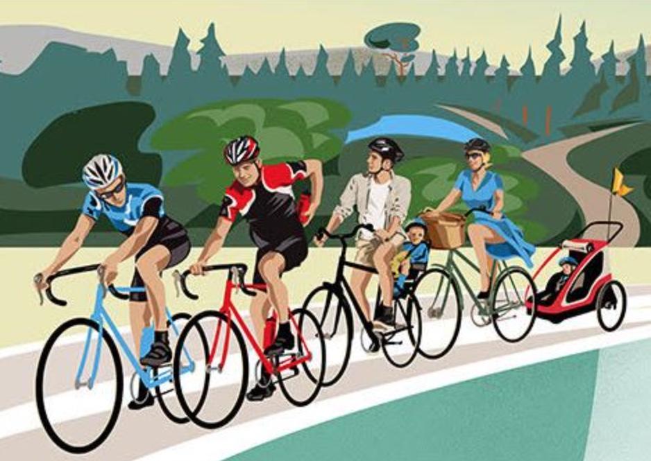 Det er en fantastisk cykelfest for små, store, familier, firmaer og alle andre cykelentusiaster. Illustration: Sjælsø Rundt