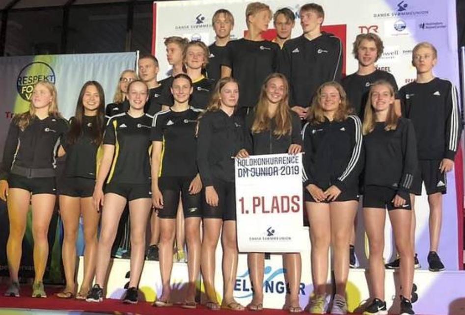 Sigma Swim løb af med sejren som Danmarks bedste juniorklub. Foto: Sigma Swim