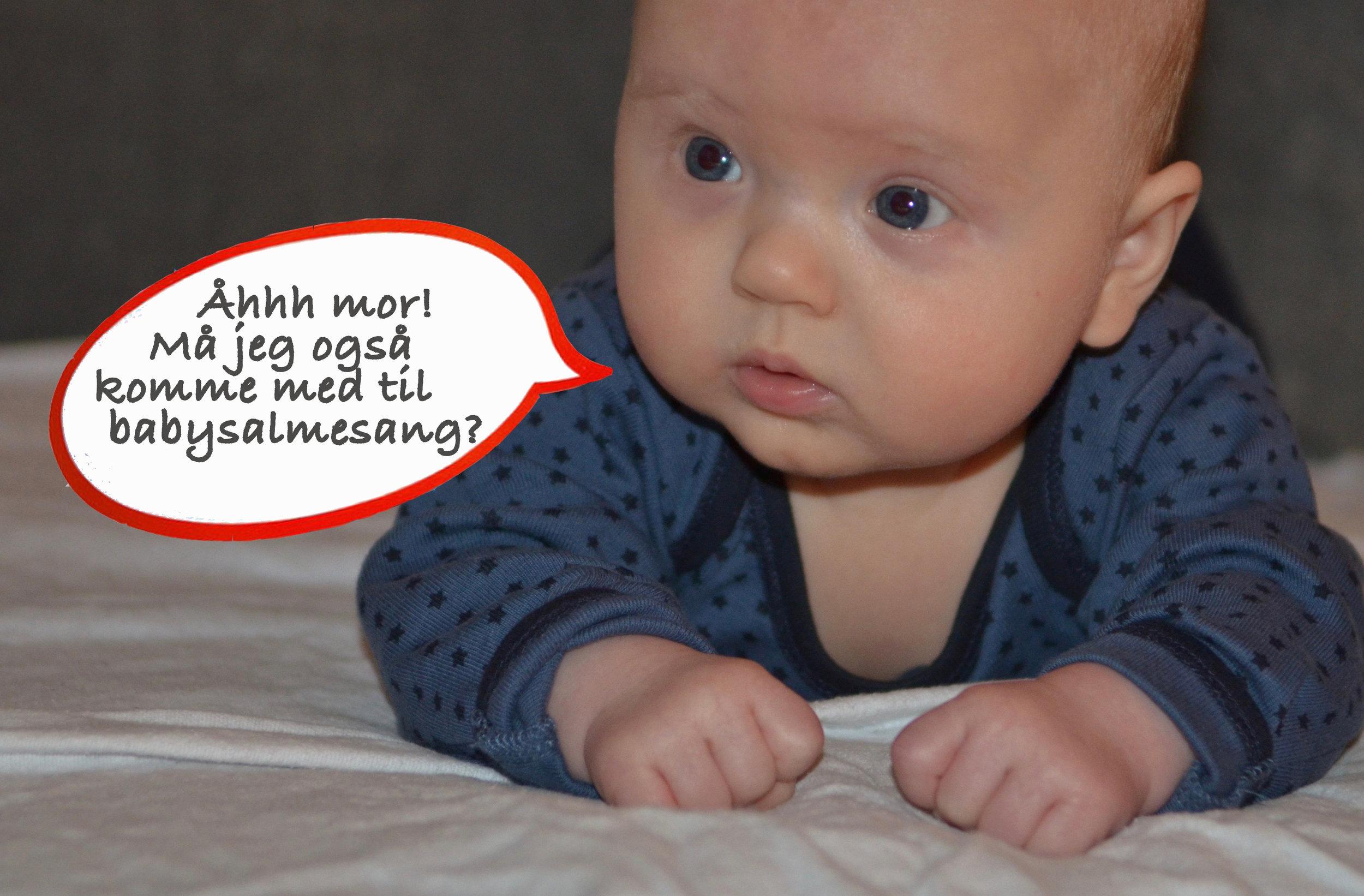 Tilmelding til babybørnesang er nødvendig første gang. Foto: AOB