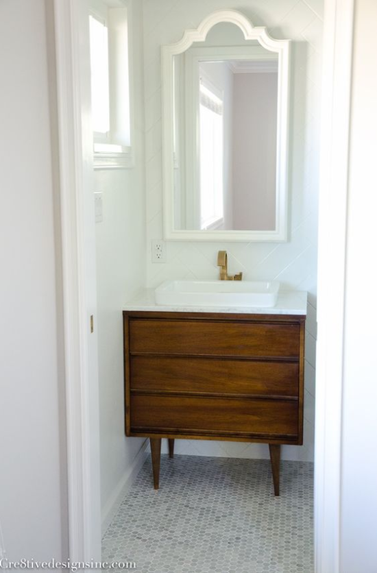 power room dresser vanity with marble