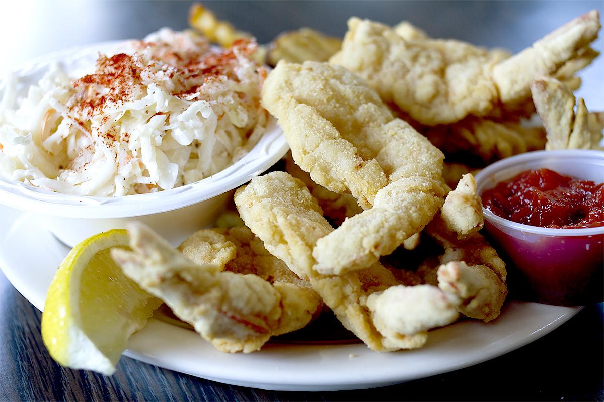 Fried Shrimp Blue Plate