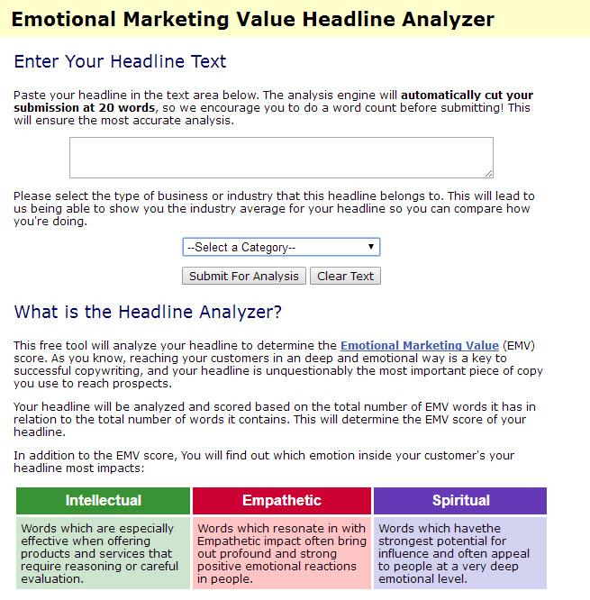 Emotional Marketing Headline Analyzer