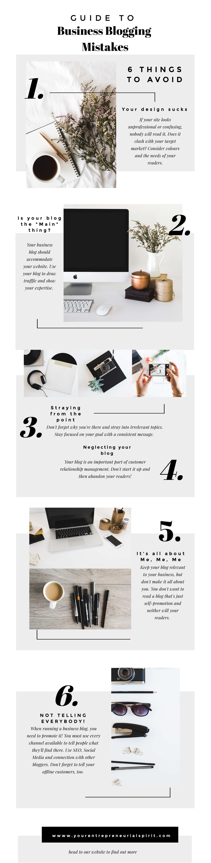 Business blogging mistakes to avoid Infographic