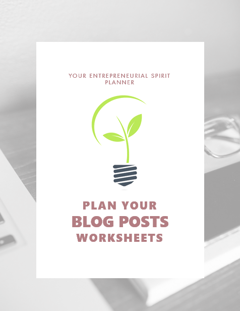 Plan your blog posts with post planner and weekly blog planner