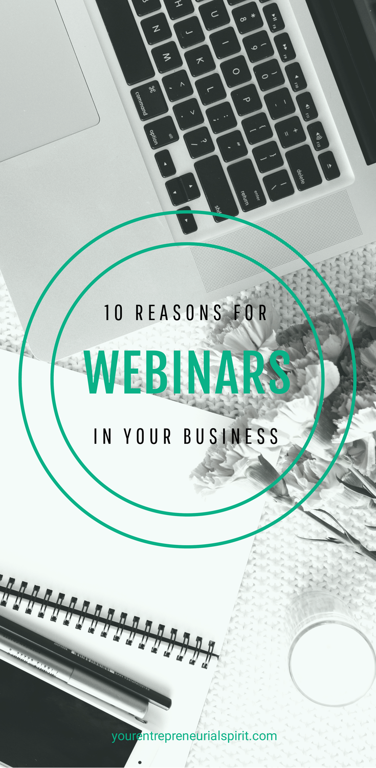 10 Reasons to use webinars in your business