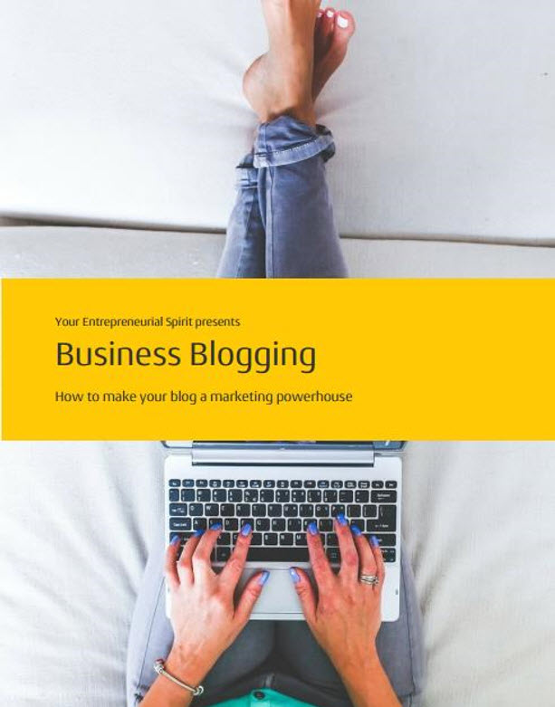 28 page report on blogging for your business