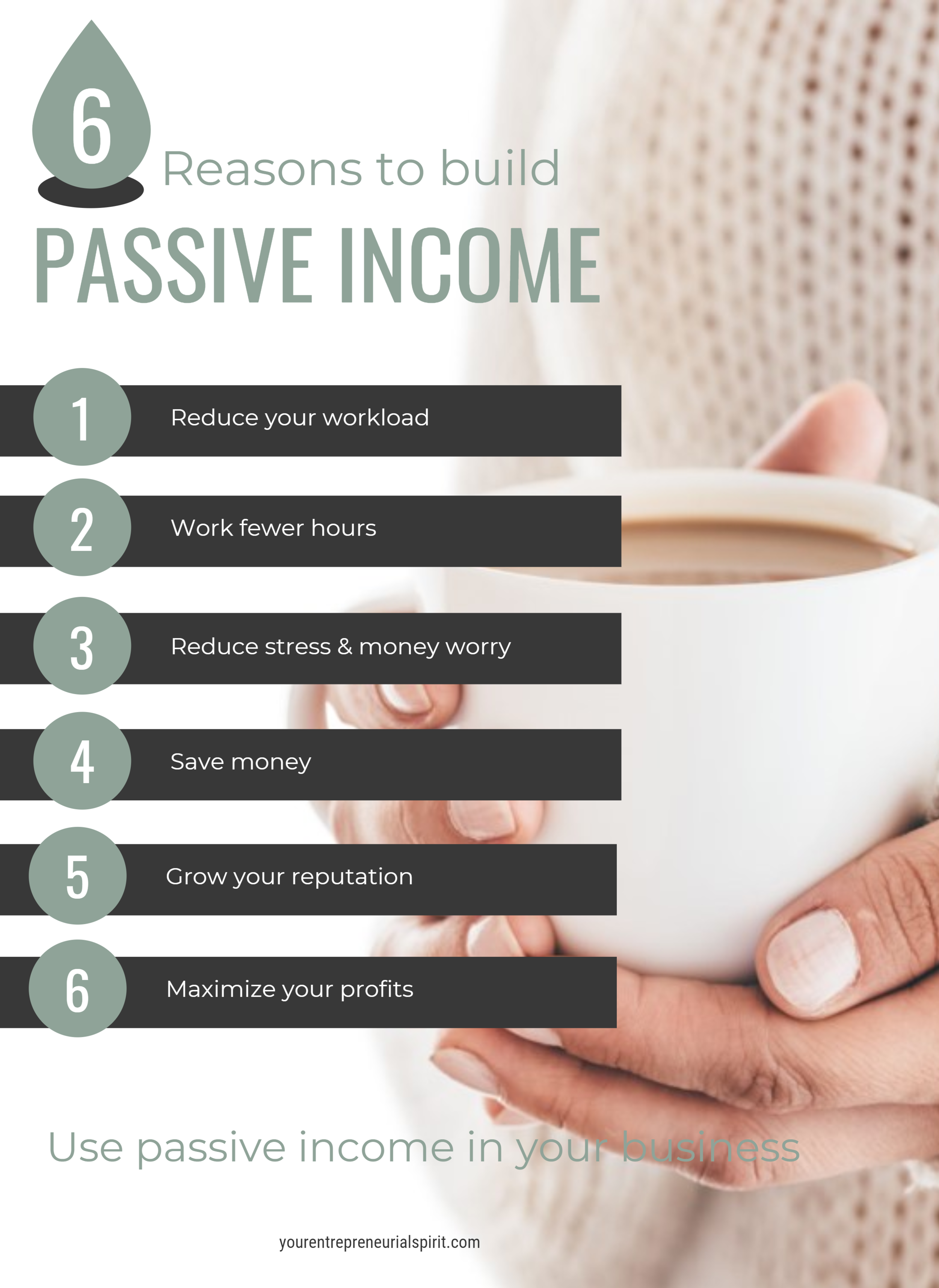 6 Reasons to build passive income - infographic