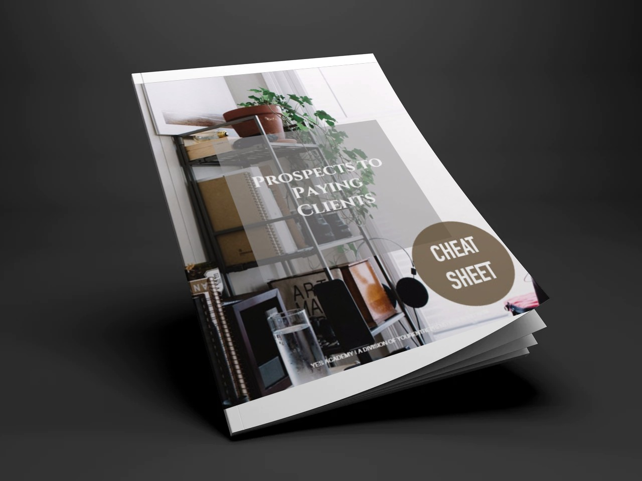 Get your copy here - Prospects to Paying Clients Cheat Sheet