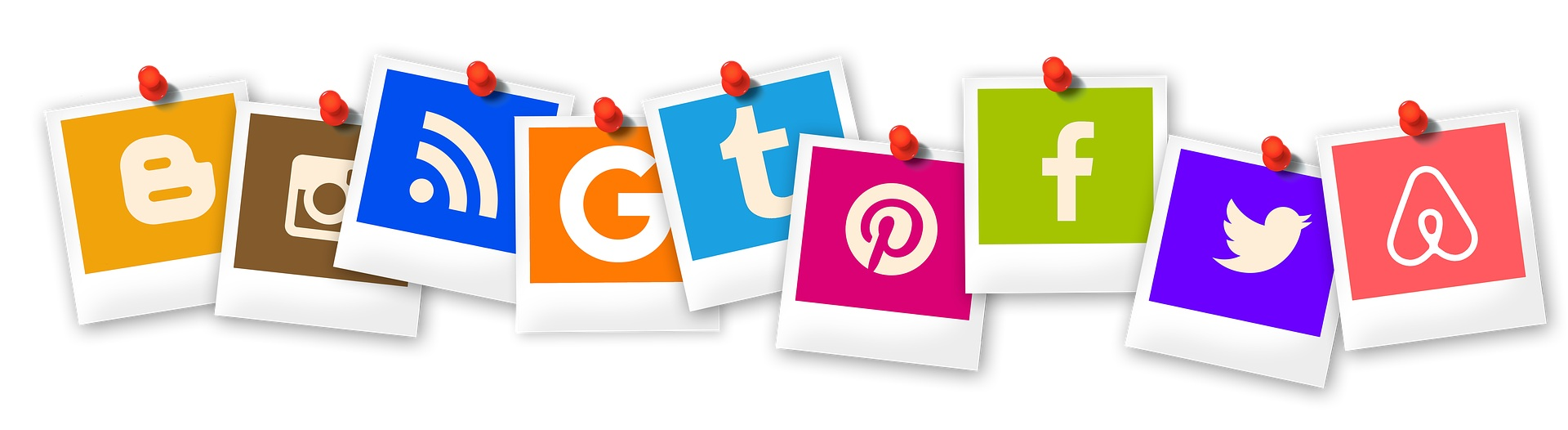Social media for business icons