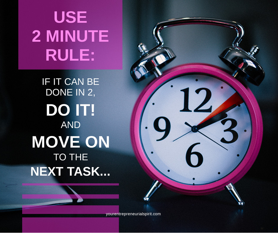 Two Minute Task rule